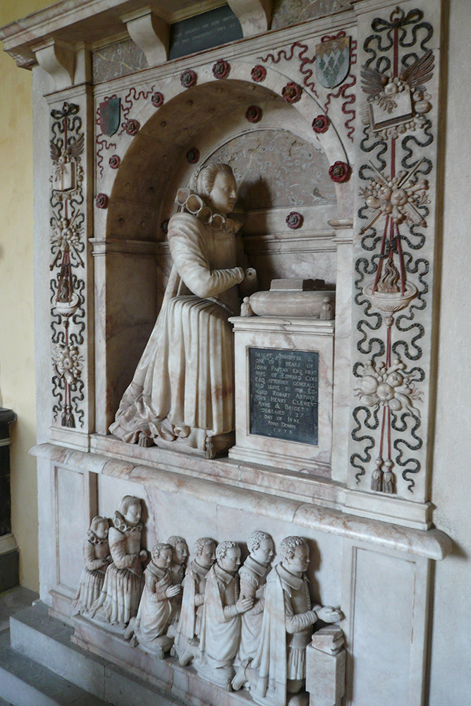 Bridget Paston's monument