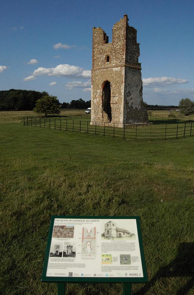 Godwick lost village interpretation panels